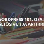 WordPress sivut artikkelit