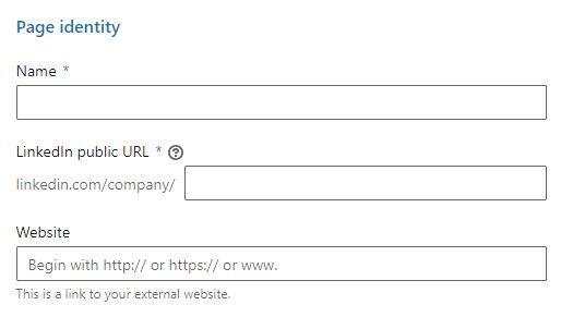 LinkedIn yritystili nimi ja osoite